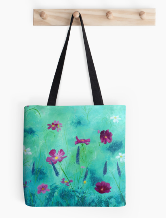 meadow flowers tote